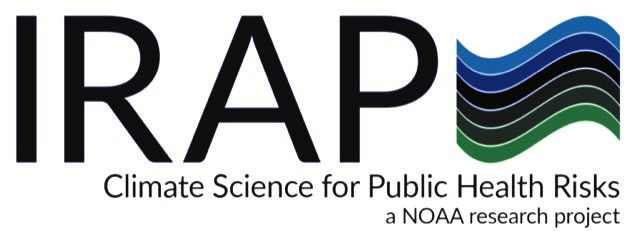 IRAP climate science for public health risks logo